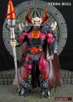 Custom MOTUC Terra-Bull action figure by Jin-Saotome