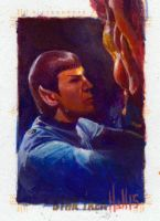 star trek 50th oil sketch 11 by charles-hall