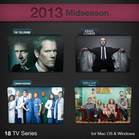2013 Midseason TV Series Folders by paulodelvalle