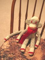 Another sock monkey by chibiwakki
