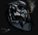 Smokey -turian OC by coolhaloboy360