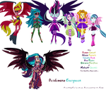 Demon S, The Dazzlings, G.Everfree, and Midnight S by PrettyCelestia
