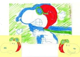 Snoopy Flying Ace Collage by HuoXingC