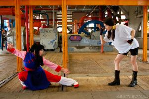 Girls Grapple by BiZria