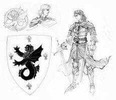 Undine sketches: coat of arms by Gustavo-Lopes