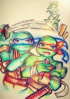 -Leo and Michelangelo- by yuulzuo