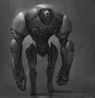 Robot Sketch by BABAGANOOSH99