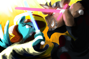 Jedi vs. Senpai by TalonsofIceandFire