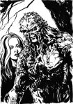 Swamp Thing and Abby inked by MarcLaming