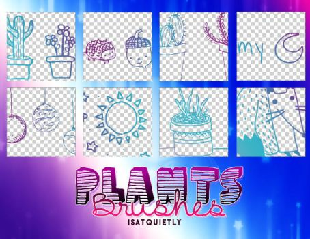 +Plants Brushes by ISatQuietly