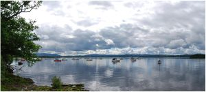Boats On Loch Lomond by Isriana