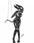 Rubber Alien Tied Up by pegasi-tw
