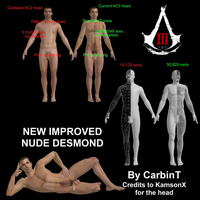 ALL NEW Nude Desmond Miles and Ezio Auditore model by carbint