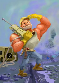 Jackhammer Man by zammo316