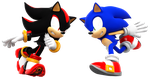 Sonic Vs SHadow Head to Head! by NIBROCrock