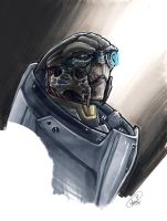 Garrus Bust by AdamWithers