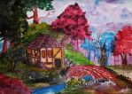 Life is but a dream (watercolor) by AlexandraDart