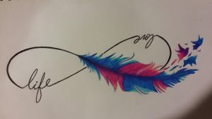 infinite feather by Ink-side