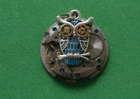 Steampunk owl pendant by lollollol2