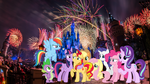 The Mane 9 in Disney World by YugiohPonyAvengers
