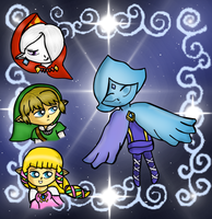 Skyward Sword Main cast by Jrynkows