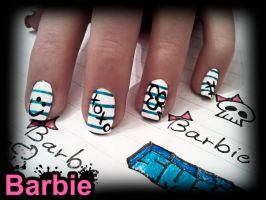 Notebook Nails by BarbieNailArt