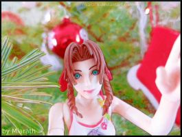Aerith in front of our Christmastree :) by Miarath
