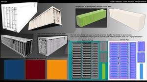 HH Final Project - Cargo Containers Model Renders by sonicbommer