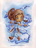 LoK - Korra watercolour by KeyshaKitty