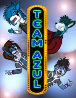 """THE GREAT TEAM AZUL"" by Master-wolf149"