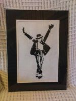 Michael Jackson Cross Stitch by VickitoriaEmbroidery