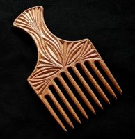 BEECH HAIR COMB by MassoGeppetto