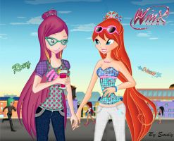 Roxy and Bloom, New Outfits by EmmY190