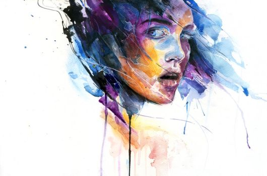 sheets of colored glass by agnes-cecile