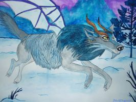 Arctica Wolf Dragon by BlackDragon07