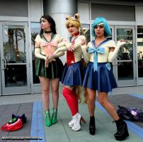 Sailor Jupiter Sailor Moon Sailor Mercury by bear213