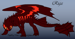 HTTYD Night Fury OC- Riga by KuroHetalia