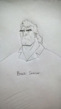 Quick sketch - Brock Samson by Rafagafanhotobra