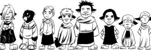The Cast as Kids by angieness