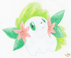 Shaymin illustration. by Ishisu