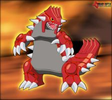 Groudon by Kidel