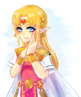 a link between worlds -- princess zelda by onisuu