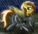 Spitfire in the rain by Ziemniax