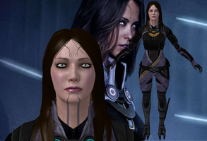 Tali without mask 2 from Mass Effect for XNALara by Melllin