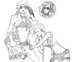 Piltover or something...Sketch by JPEdward