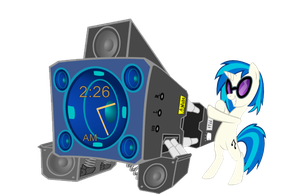 Bass Cannon Clock by RainxChaser