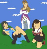 The Giantess Hugs the Smalls by Final7Darkness