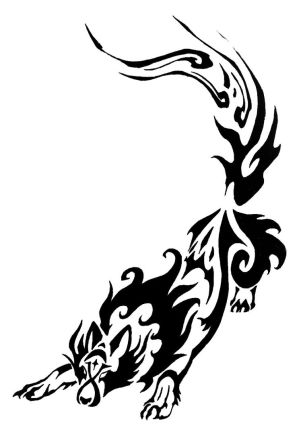 tribal wolf tattoos. wolf tattoo design.