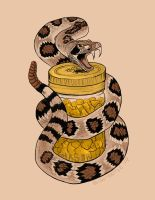 Snake and Gold Flash by blindthistle