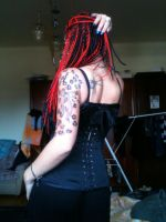 corset and tattoos by nightorchide